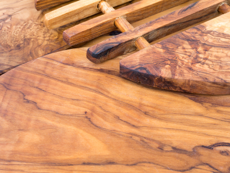wooden boards: Olive tree wooden textured cutting boards background