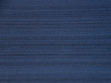 Dark navy blue striped polyester activewear fabric texture swatch Stock Photo