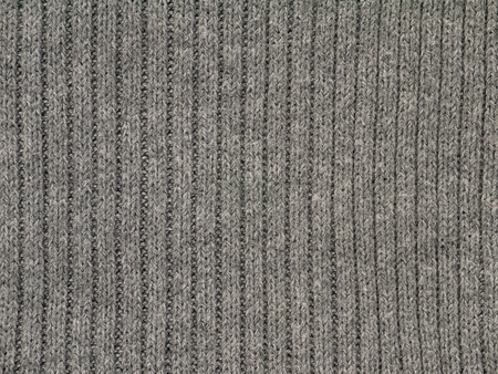 Heather grey ribbed cotton polyacryl cold weather clothes fabric swatch Reklamní fotografie