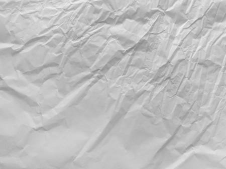 Crumpled white packing paper texture