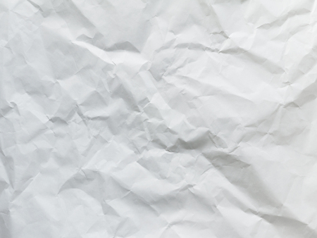 Wrinkled white packing paper texture
