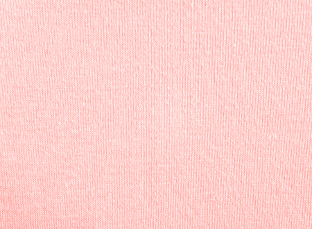 Coral cotton knitwear fabric texture swatch.Top color trend of the year 2019.