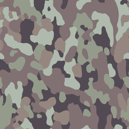 Camo seamless pattern vector illustration. Camouflage design.
