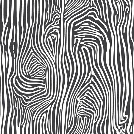 Zebra skin seamless african animal pattern illustration. Black and white print. Striped pelage.