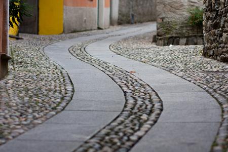 twisty: Twisty road in a village