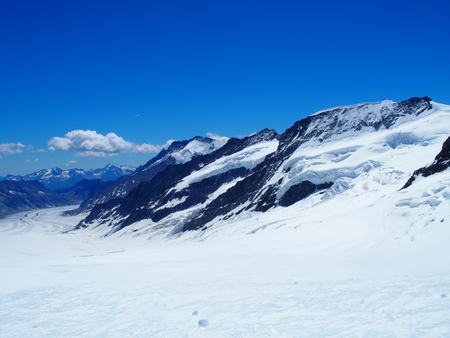 Snow covered Swiss Alps