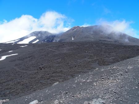 Mount Etna in Sicily Stock Photo