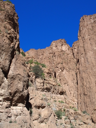 African rocky slope of TODGHA GORGE canyon landscapes in MOROCCO Stock fotó