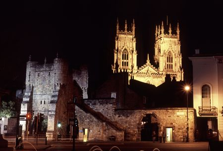 A view of york at night (bootham bar)