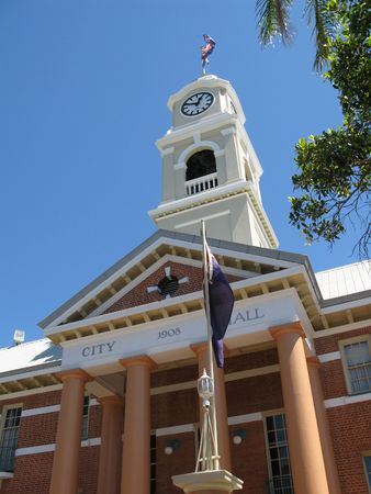 city hall and clock tower, a maryborough landmark