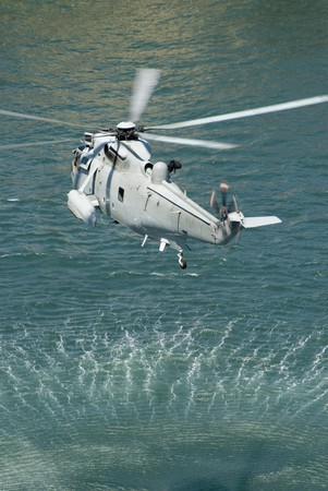 the austrlian navy practicing a rescue operation photo