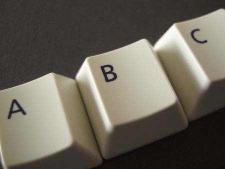 The Letters ABC from a keyboard Stock Photo