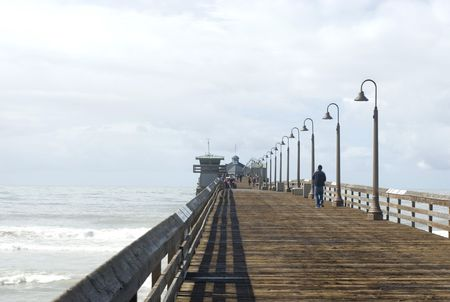 Wooden pier at Imperial Beach, California, USA