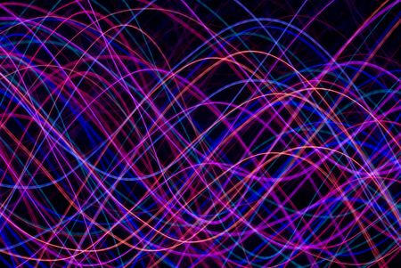 sinusoidal: abstract background of colourful sinusoidal waveforms in red pink magenta and blue Stock Photo