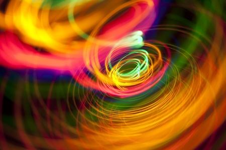 un remolino de senderos de colores vívidos de luz Foto de archivo - 8361839