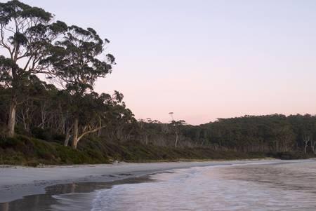 Sunrise over the sheltered waters of Fortescue bay, Tasmania, Australia Stock Photo - 14656964