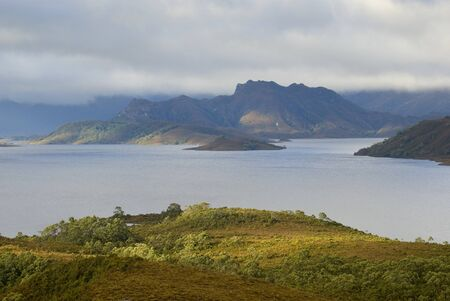 A panoramic view of Lake Pedder in the Tasmanian wilderness, Australia Stock Photo - 15046045