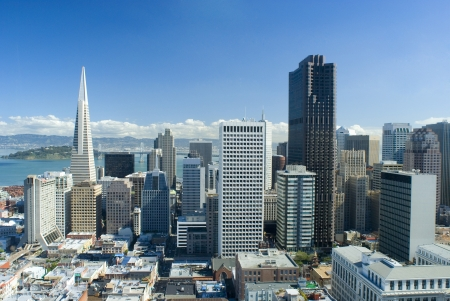 spectacular cityscape of san francisco on a sunny day Stock Photo