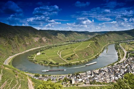 The German river moselle near Bremm Stock Photo - 7934083