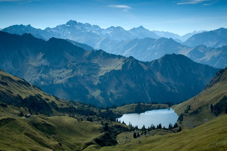 alps: Mountain lake in the bavarian alps