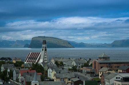 ノルウェーでは、世界で最北の都市 写真素材