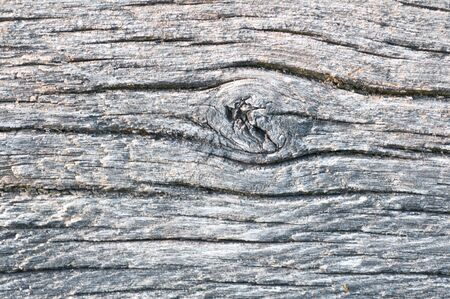 ghoulish: Old wheatered wood with a knot Stock Photo