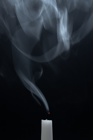fume: Candle with fume Stock Photo