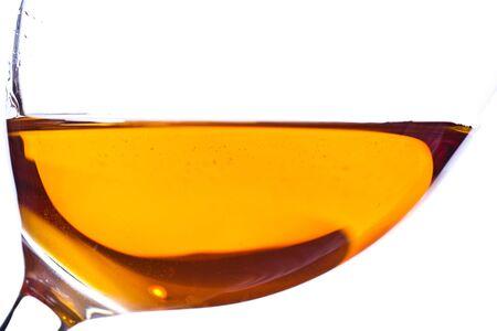 ワインのグラスでデザート ワインからクローズ アップ 写真素材
