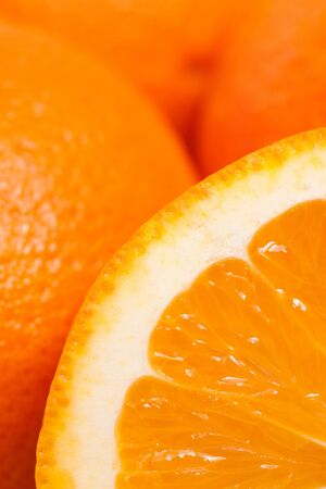 citrous: Closeup of a orange fruit in vertical format Stock Photo