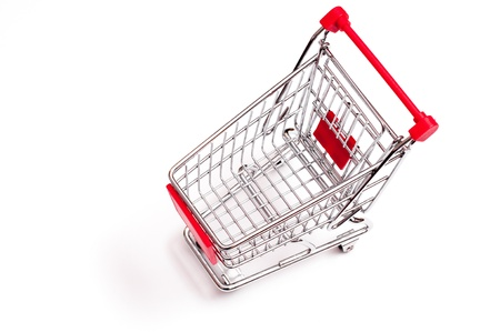 Trolley from above on a white background Stock Photo - 14839342