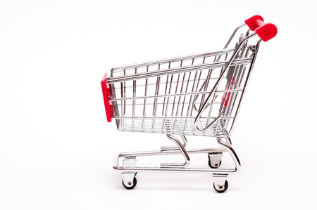 Cart from the side on a white background Stock Photo - 14839347