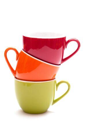 tazas de cafe: Coloured apilados tazas para café espresso