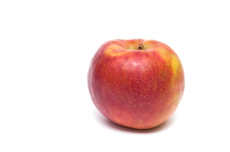 Red boskoop apple on a white background