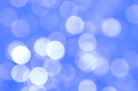 Background with bokeh in blue