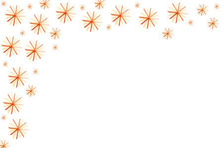 tinkered: Several christmas stars on white background