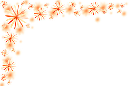 tinkered: Red christmas stars as greeting card with white background