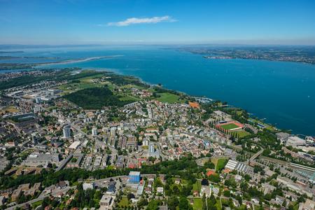 Aerial view of Bregenz at lake constance in summer Standard-Bild