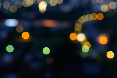 Abstract bokeh lamp and car lights dawn Stok Fotoğraf