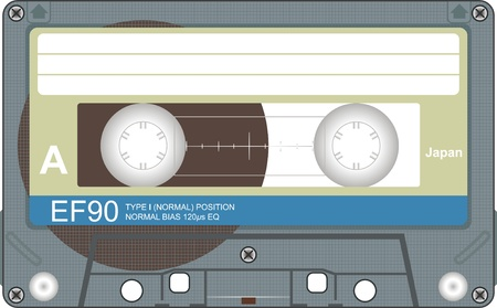 Audio tape illustration illustration