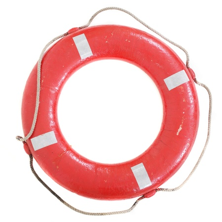 beach buoy: Life buoy isolated on white background