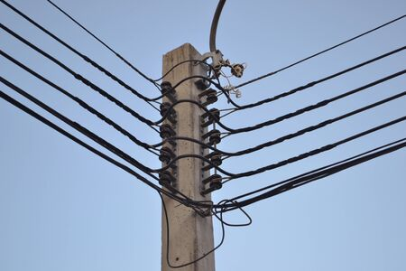 electric line: electric line on the electricity post