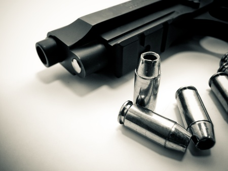 ammunition: Pistol and Ammunition Stock Photo