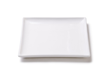sushi plate: White empty plate of earthenware
