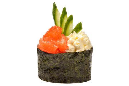 nigiri: nigiri salmon Stock Photo
