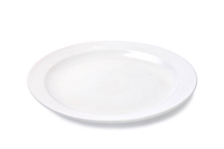deportment: Empty plate Stock Photo