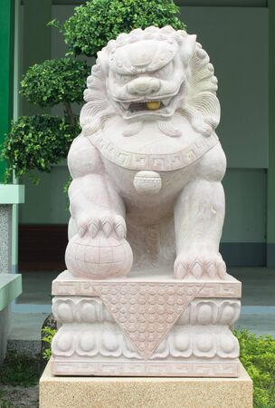 Chinese lion statue  photo