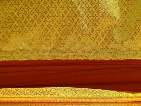 Fabric pattern and red gold photo
