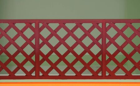 Fence red, green backdrop photo