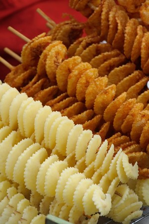 potato chip: spiral potato