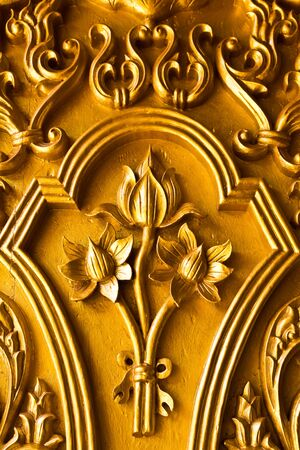 Flower postcard door carvings church. Stock Photo - 6904163